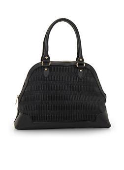 Curved Satchel Handbag - 3124060147773