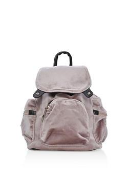 Small Velvet Backpack - 3124061590925