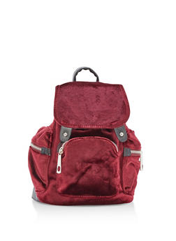 Small Velvet Backpack - 3124061590925