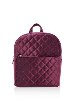 Quilted Velvet Backpack - 3124061594953