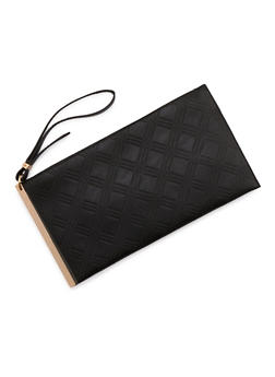 Clutch in Embossed Faux Leather - 3124061595145