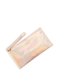 Holographic Clutch with Wrist Strap - 3124061595187