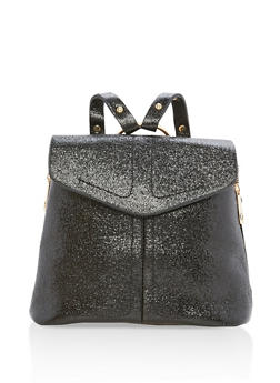 Glitter Zipper Backpack - 3124061595370