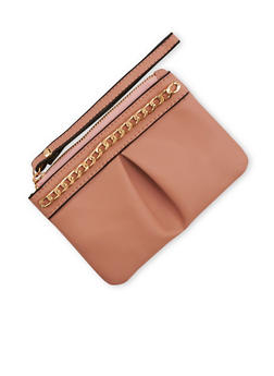 Small Faux Leather Wristlet - 3124061595520