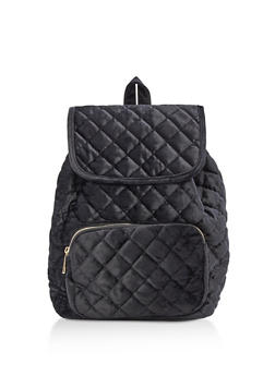 Quilted Velvet Backpack - 3124061596000