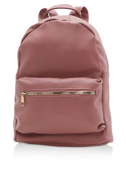Faux Textured Leather Backpack - 3124067440207