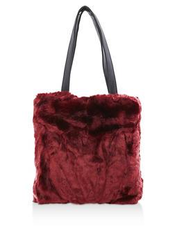 Faux Fur Tote Bag - 3124067441207