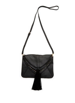 Crossbody Bag with Layered Flaps - 3124067442006