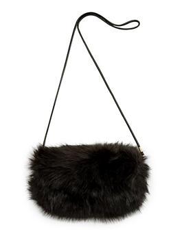 Faux Fur Muff Bag - 3124067443107