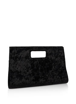 Large Crushed Velvet Clutch - 3124067447020