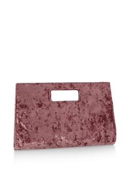 Large Crushed Velvet Clutch - 3124067447020