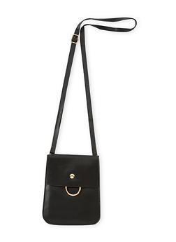 Cell Phone Crossbody Bag with Metal Ring - 3124067447042