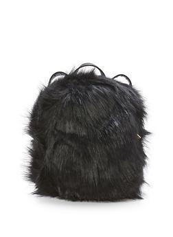 Faux Fur Backpack - 3124067447900