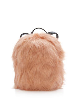 Faux Fur Backpack - 3124067447900