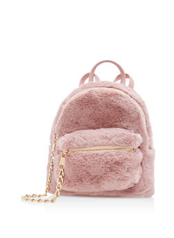 Mini Faux Fur Backpack - 3124067448700