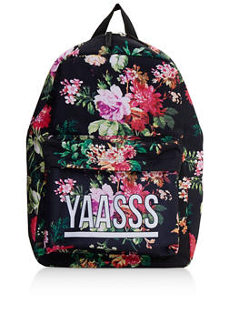 Yaasss Graphic Floral Backpack - 3124073331070