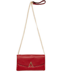 Faux Leather Embossed Crossbody Bag - 3124073895163