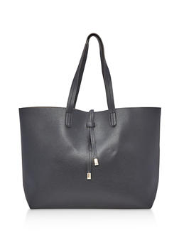 Soft Faux Textured Leather Tote Bag - 3124074111904