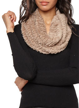 Faux Fur Infinity Scarf - 3125041650901
