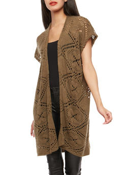 Crochet Knit Cardigan - 3125041651194