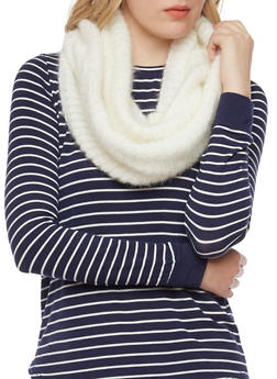 Shimmer Knit Infinity Scarf - 3125041651608