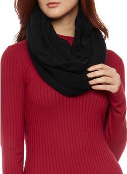 Knit Infinity Scarf - BLACK - 3125041651813
