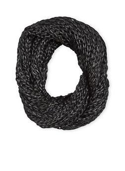 Metallic Knit Infinity Scarf - 3125042740560