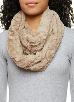 Faux Fur Infinity Scarf - 3125042741701