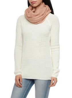 Chevron Knit Infinity Scarf - 3125067443619