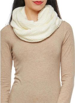 Chevron Knit Infinity Scarf - 3125067443635