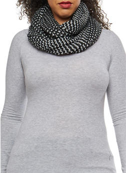 Shimmer Knit Infinity Scarf - 3125067443638