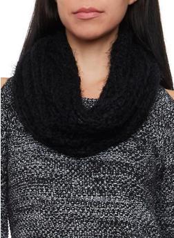 Eyelash Knit Infinity Scarf - 3125067443643