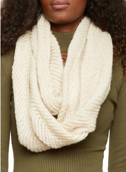 Knit Infinity Scarf - OATMEAL - 3125067443649