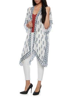 Printed Kimono Scarf - 3125067446007