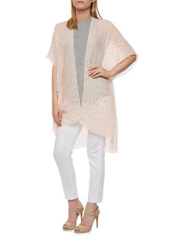 Crinkle Knit Kimono - 3125067447005