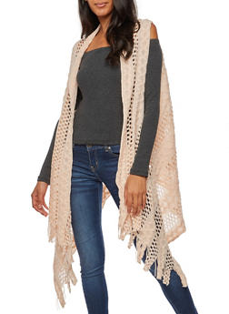 Crocheted Vest with Fringe - 3125067447044