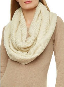 Solid Knit Infinity Scarf - 3125067449463