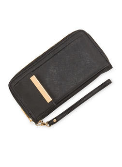Faux Leather Wristlet Wallet - 3126041656116