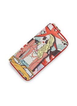 Continental Wallet with Fashionista Print - 3126067446178