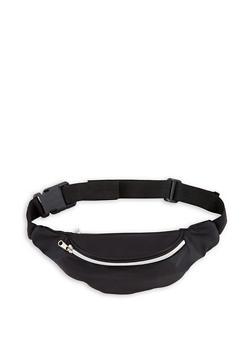 Nylon Double Zip Fanny Pack - 3126067447003