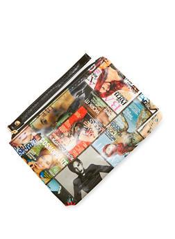 Magazine Print Wristlet - 3126067447009