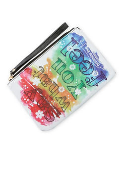 Say What You Feel Graphic Wristlet - 3126067447047