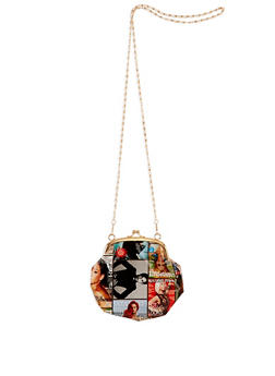 Magazine Print Kiss Lock Coin Purse - 3126067447060