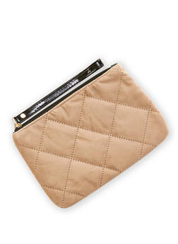 Quilted Velvet Pouch Wristlet - 3126067447067