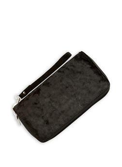 Velvet Double Zip Around Wallet - 3126067447068