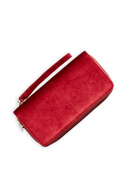 Velvet Double Zip Around Wallet - 3126067447068