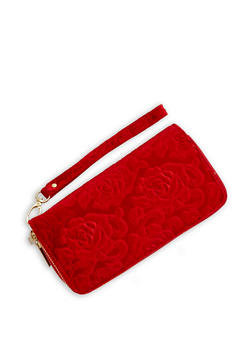 Velvet Rose Zip Around Wallet - 3126067447073