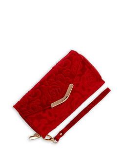 Velvet Rose Envelope Wallet - 3126067447079
