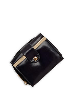 Trifold Wallet with Metallic Detail - 3126067447091