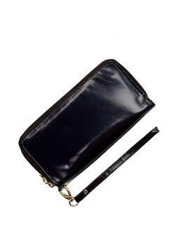Double Zip Wallet with Removable Wrist Strap - 3126067447093